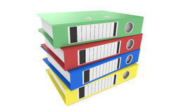 Binders. Pile of Binders. 5 Blue Binders in a pile Royalty Free Stock Photo