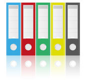 Binders. Vector Illustration of Binders in Various Colors on White Background stock illustration