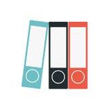 Binders file folder office supplies. Illustration eps 10 Stock Image