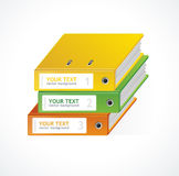 Binders Vector 123 infographics template Royalty Free Stock Photography