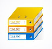 Binders Vector speech templates for text Royalty Free Stock Photography