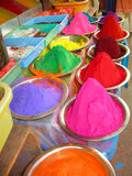 Bindi dyes in an Indian Market. Colourful bindi dyes on sale in an Indian market Royalty Free Stock Image