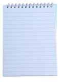 binding anteckningsbokspiralwriting Royaltyfri Foto