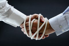 Binding business handshake Royalty Free Stock Image