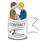 Binding Contractual Agreement Cartoon Stock Photos