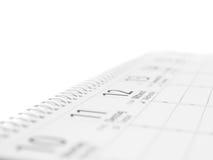 binding kalenderspiral Arkivfoton