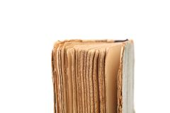 Binding of old book. Close up. Stock Photos