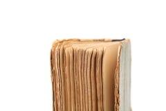 Binding of old book. Close up. Stock Photos