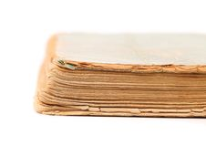 Binding of old book. Close up. Royalty Free Stock Image