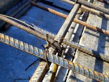 Binding rebar before concreting Royalty Free Stock Photo