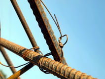 Binding rebar before concreting Stock Photography