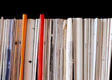 Bindings of old exercise books and pamphlets Stock Images