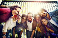 Bindninggemenskapvänner Team Togetherness Unity Concept royaltyfri bild