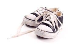 Bindung Ihrer Schuhe Stockfotos