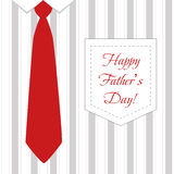 Bindung und Hemd für Vater Day Lizenzfreie Stockfotos