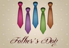Bindungen für Vater Day Lizenzfreies Stockbild