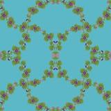 Bindweed kwiatu bezszwowy wzór również zwrócić corel ilustracji wektora Obrazy Stock