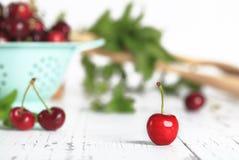 Bing Cherry vermelho foto de stock royalty free