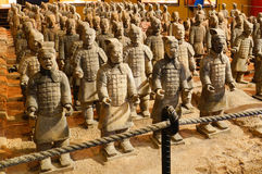 Bing ma yong terracotta army. (Terra Cotta Army). The Terracotta Army or the Terracotta Warriors and Horses is a collection of terracotta sculptures depicting Royalty Free Stock Photos