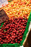 Bing and Ranier Cherries in a Market Royalty Free Stock Photography