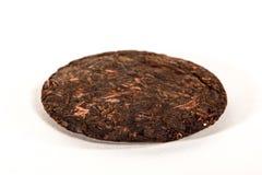 Shu puer tea. Bing of shu puer tea stock image