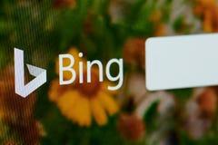Bing-Suchhomepage lizenzfreie stockfotos