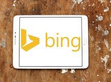 Bing-Suchmaschinelogo lizenzfreie stockbilder