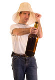 Binge. A young man on a drinking binge royalty free stock image