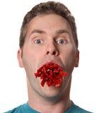 Binge. Eating disorder metaphor royalty free stock images