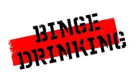 Binge Drinking rubber stamp Stock Photo
