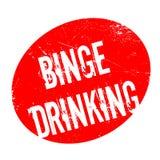 Binge Drinking rubber stamp Royalty Free Stock Photo