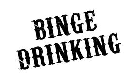Binge Drinking rubber stamp Stock Photography