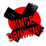 Binge Drinking rubber stamp Royalty Free Stock Images
