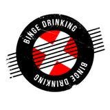 Binge Drinking rubber stamp Stock Photos