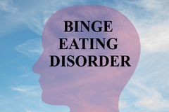 Binge Eating Disorder concept Stock Photo