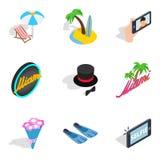 Binge icons set, isometric style. Binge icons set. Isometric set of 9 binge vector icons for web isolated on white background Royalty Free Stock Photo