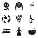 Binge icons set, simple style. Binge icons set. Simple set of 9 binge vector icons for web isolated on white background stock illustration