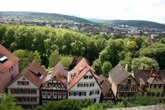 Bingen TÃ ¼/Tübingen in Duitsland stock afbeeldingen