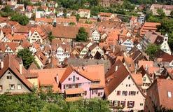Bingen TÃ ¼ of Tübingen, Duitsland stock foto's