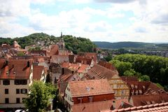 Bingen Tuebingen Alemanha do ¼ de TÃ Fotografia de Stock Royalty Free