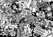 Bingersen - klottra den drog konstillustrationhanden stock illustrationer