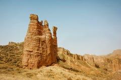 Binggou丹霞地形,张掖 库存照片
