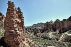Binggou Danxia landform przy Zhangye Danxia geo krajowym parkiem w Gansu prowinci w Chiny Zdjęcia Royalty Free