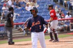 Binghamton Mets batter Jordany Valdespin Royalty Free Stock Photography