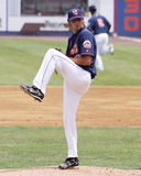 Binghamton Mets pitcher Brandon Moore. Throws a pitch Royalty Free Stock Photo
