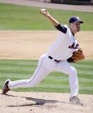 Binghamton Mets' pitcher Zack Wheeler. Throws a pitch Royalty Free Stock Photos