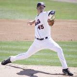 Binghamton Mets' pitcher Zack Wheeler. Throws a pitch Stock Photo