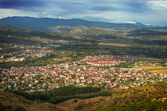 Bingol city in eastern Turkey. A view over the city of Bingöl in eastern Turkey Royalty Free Stock Photography