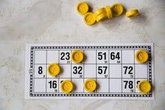 Bingo παιχνιδιού στη οικογενειακή κατοικία Στοκ εικόνες με δικαίωμα ελεύθερης χρήσης