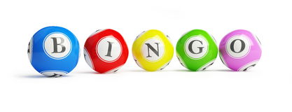 bingo σφαιρών Στοκ φωτογραφία με δικαίωμα ελεύθερης χρήσης